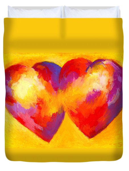 Two Hearts Beat As One Duvet Cover by Stephen Anderson