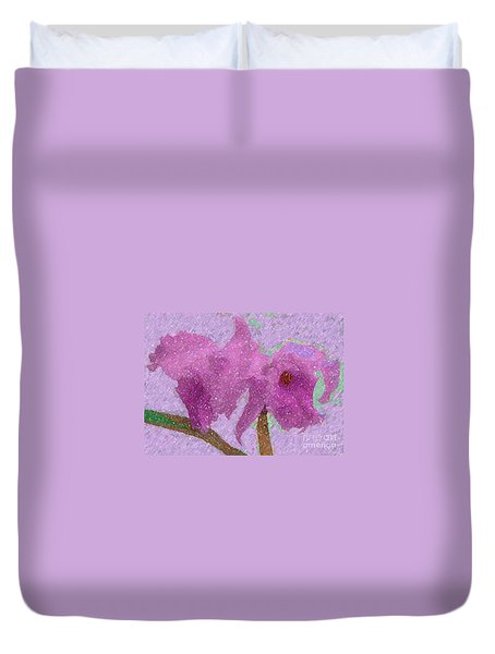 Two Hothouse Beauties Duvet Cover by Barbie Corbett-Newmin