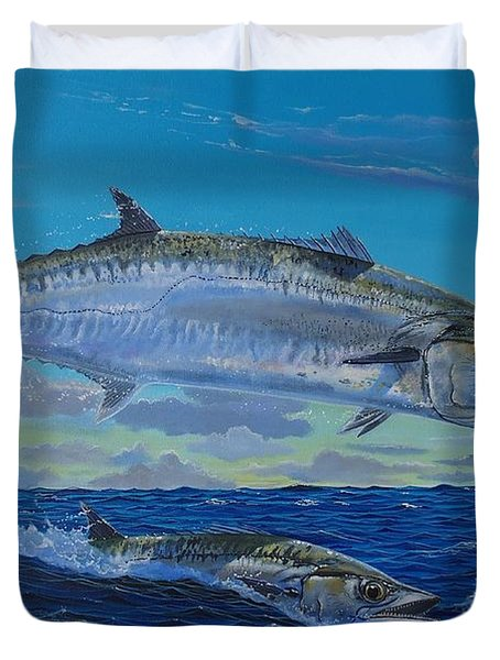 Two Kings Duvet Cover by Carey Chen