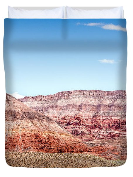 Two Layered Mountains Duvet Cover