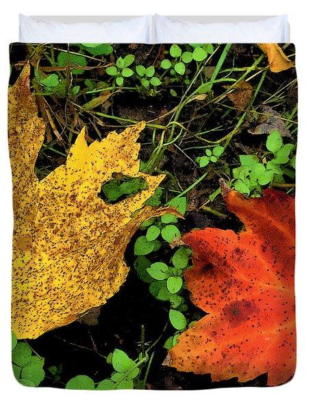 Two Leaves Duvet Cover