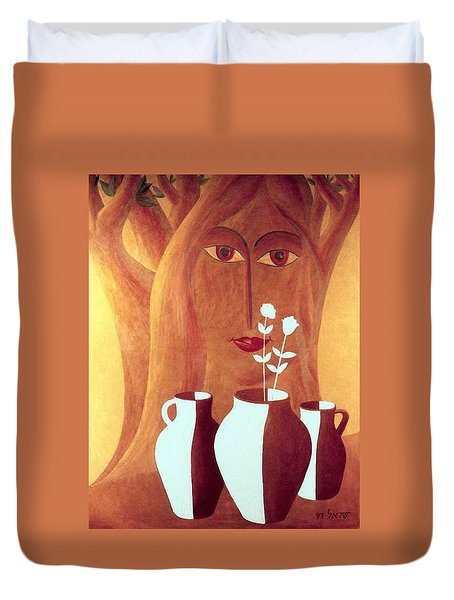 Two Lives Duvet Cover