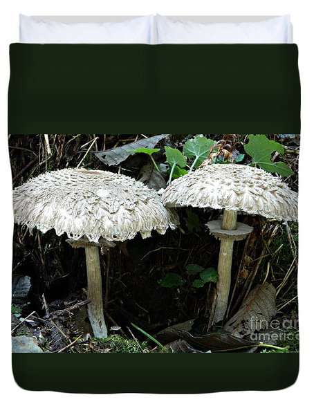 Two Magnificent Toadstools Duvet Cover by Chalet Roome-Rigdon