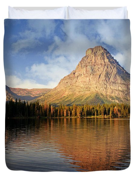 Duvet Cover featuring the photograph Two Medicine by Marty Koch