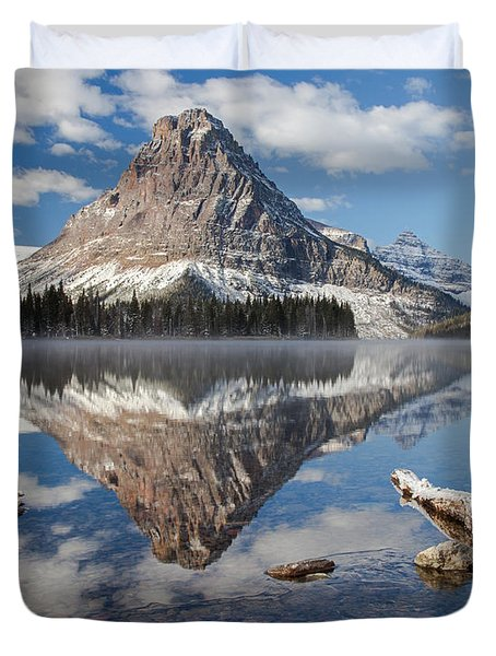 Duvet Cover featuring the photograph Two Medicine Morning by Jack Bell