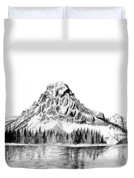 Two Medicine Mountain Duvet Cover by Kayleigh Semeniuk