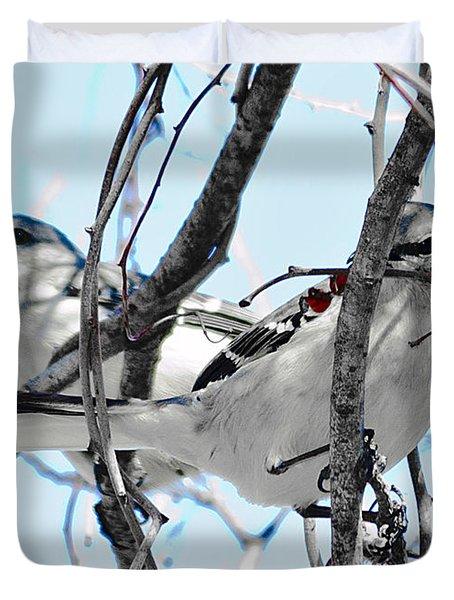 Two Mocking Birds Duvet Cover
