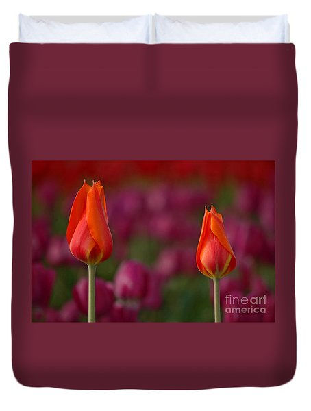 Duvet Cover featuring the photograph Two Of A Kind by Nick  Boren