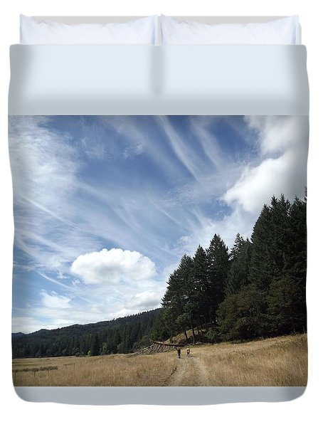 Duvet Cover featuring the photograph Two Of A Kind by Richard Faulkner