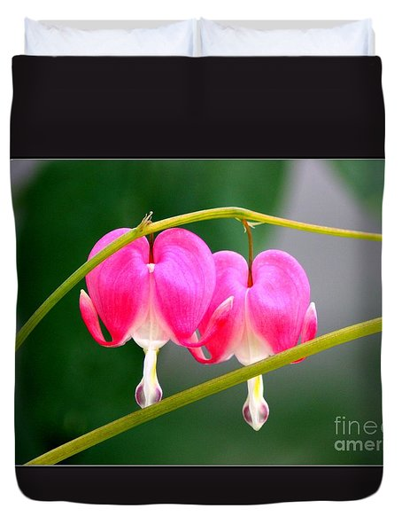 Two Of Hearts Duvet Cover by Patti Whitten