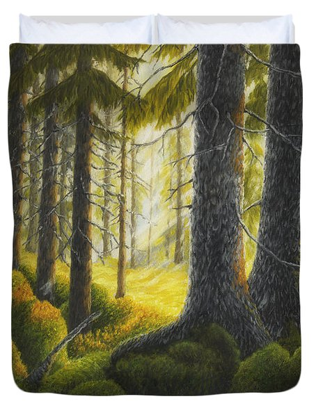 Two Old Spruce Duvet Cover