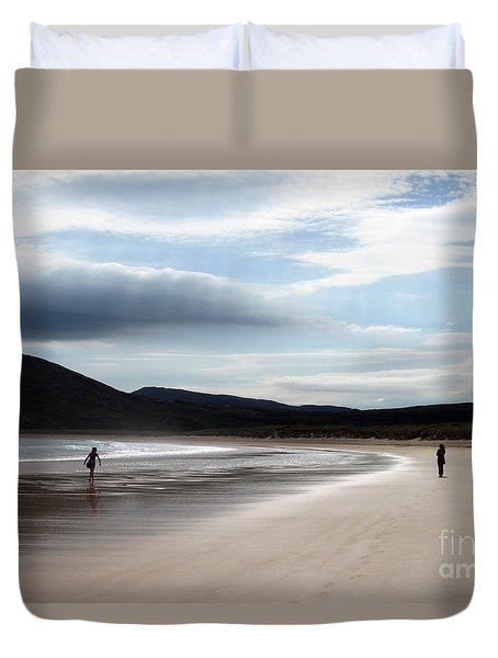 Two On A Beach Duvet Cover