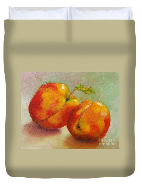 Two Peaches Duvet Cover
