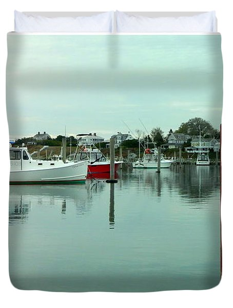 Two Poles Duvet Cover by Kathy Barney