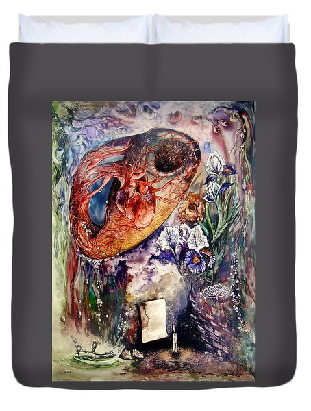 Two Realities Duvet Cover
