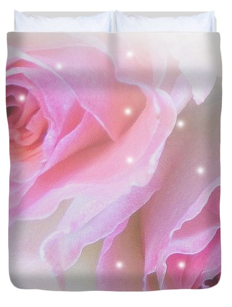 Two Roses Duvet Cover by Mikki Cucuzzo