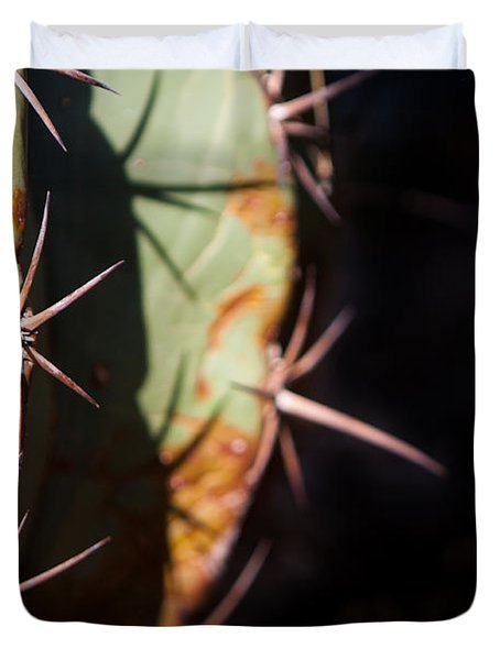 Two Shades Of Cactus Duvet Cover