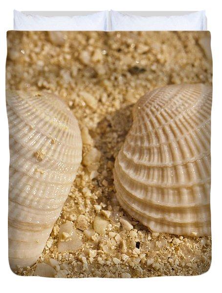 Two Shells Duvet Cover by Adam Romanowicz