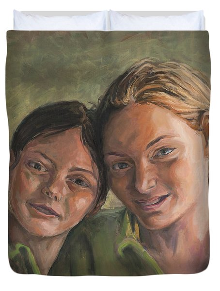 Two Sisters Duvet Cover by Marco Busoni