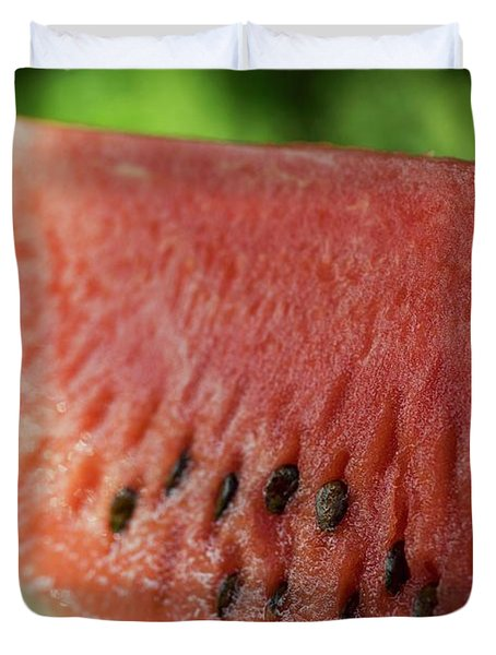 Two Slices Of Watermelon Duvet Cover