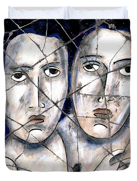 Two Souls - Study No. 1 Duvet Cover by Steve Bogdanoff