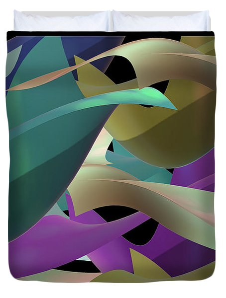 Duvet Cover featuring the digital art Two by Steven Lebron Langston