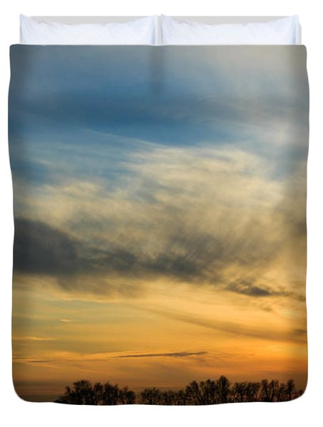 Duvet Cover featuring the photograph Two Suns Over Kentucky by Peta Thames
