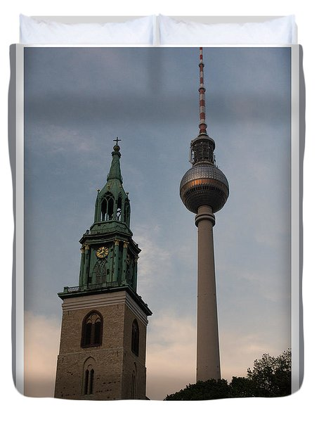 Two Towers In Berlin Duvet Cover
