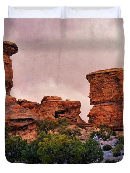 Two Towers Duvet Cover by Marty Koch
