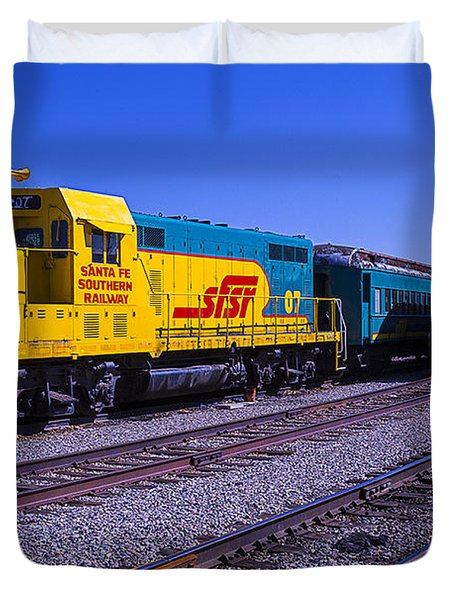 Two Trains Duvet Cover
