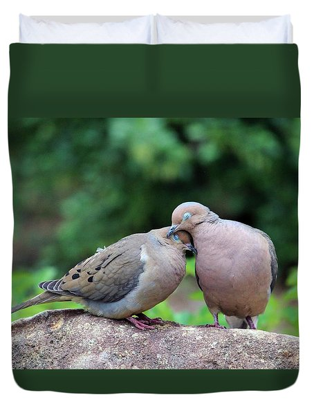 Two Turtle Doves Duvet Cover