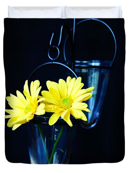Two Yellow Daisies Duvet Cover