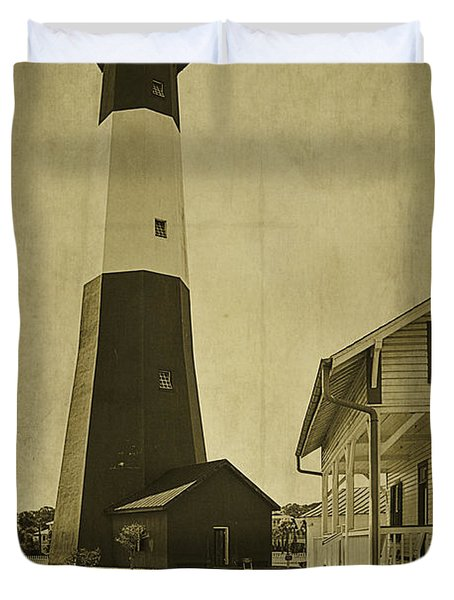 Tybee Island Light Station Duvet Cover by Priscilla Burgers