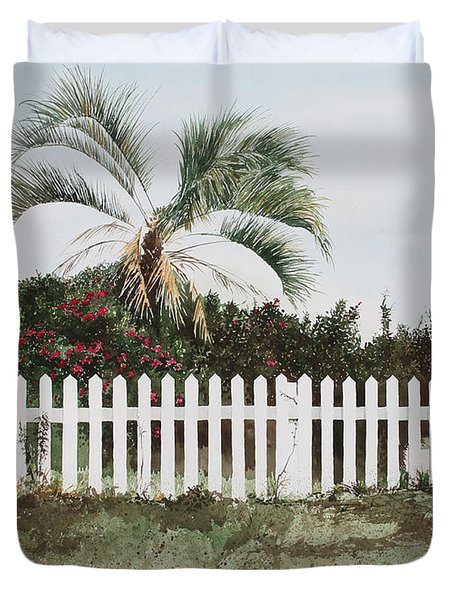 Tybee Island Roses Duvet Cover