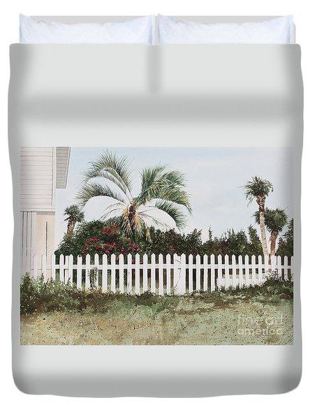 Tybee Island Roses Duvet Cover
