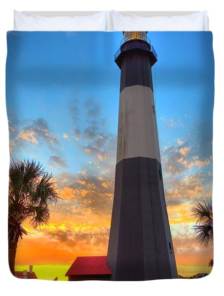 Tybee Island Sunrise Duvet Cover by Gordon Elwell