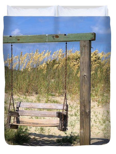 Tybee Island Swing Duvet Cover by Gordon Elwell