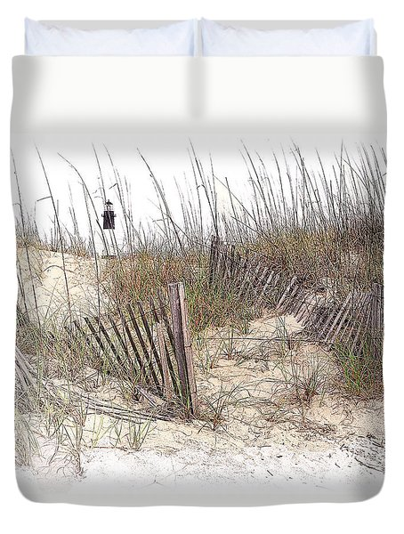 Tybee Lighthouse Duvet Cover by Marcia Colelli