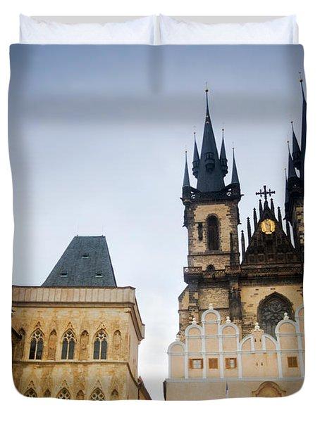 Tyn Church In Prague Duvet Cover by Michal Bednarek