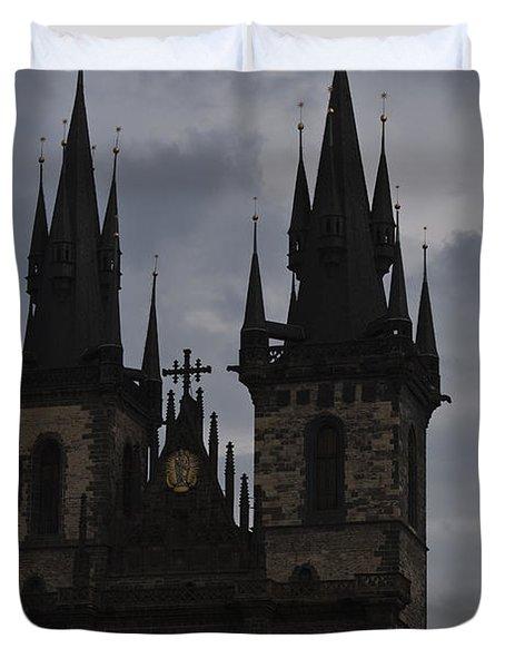 Tyn Curch Prague Duvet Cover