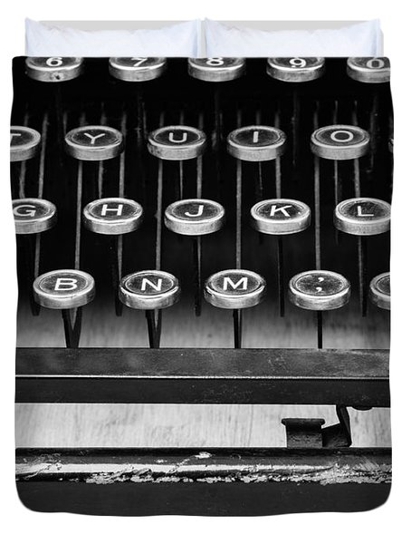 Typewriter Triptych Part 2 Duvet Cover by Edward Fielding