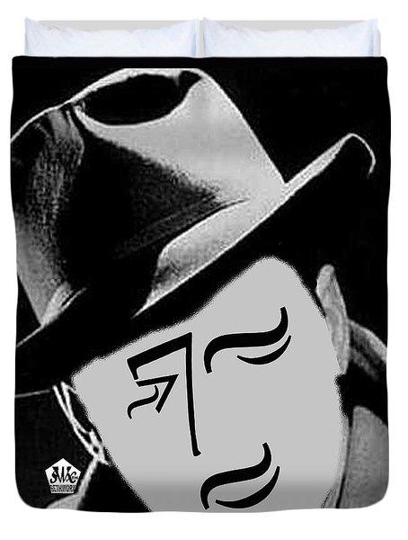 Typortraiture Humphrey Bogart Duvet Cover by Seth Weaver