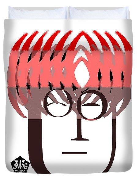 Typortraiture John Lennon Duvet Cover