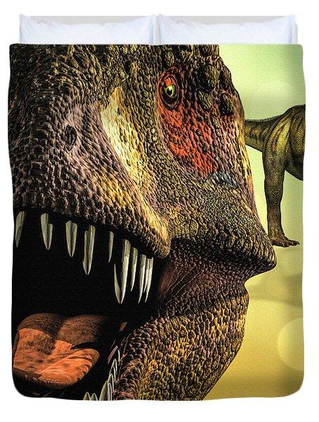 Tyrannosaurus Rex 4 Duvet Cover by Bob Orsillo