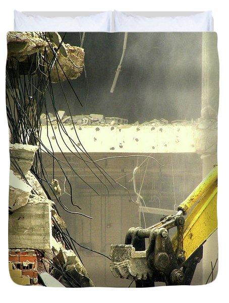 Tyrannosaurus Wrecks Duvet Cover by Joe Jake Pratt