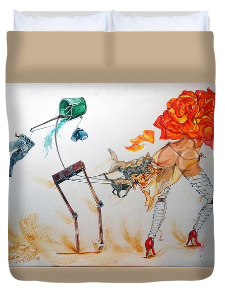 Tyrants Of Desire Duvet Cover