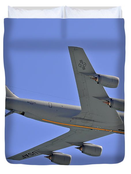 Duvet Cover featuring the photograph U S Air Force Flyover by DigiArt Diaries by Vicky B Fuller
