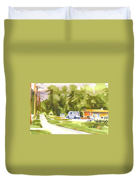 U S Mail Delivery Duvet Cover by Kip DeVore