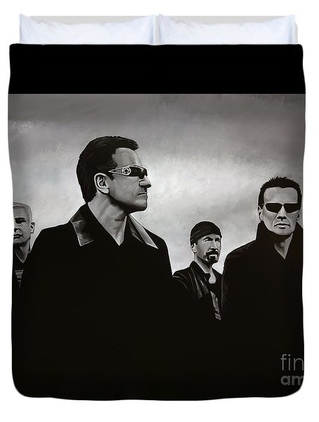 U2 Duvet Cover by Paul Meijering