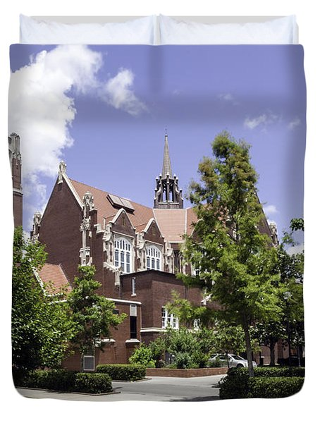 Uf University Auditorium And Century Tower Duvet Cover
